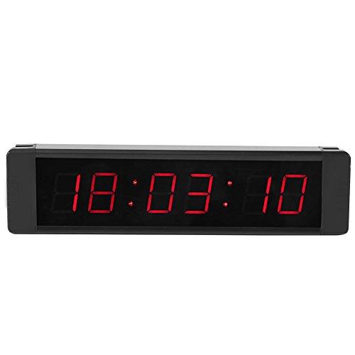 Yagosodee Temporizador Led Reloj de Cuenta Regresiva/ Ascendente con Cronómetro Remoto Reloj de Entrenamiento 12 H/ 24 H Reloj para Entrenamiento Físico Cocina 5V