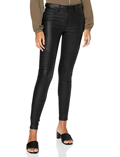 ONLY dames broek onlNEW ROYAL REG SK. BIKER COATED NOOS
