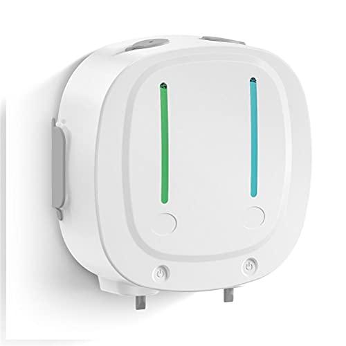 Lewpox Dispensador de jabón,dispensador de jabón automático, dispensador de fluidos de Sensor automático de Infrarrojos de Doble Cabeza,dispensador de jabón de loción líquida,550 ml