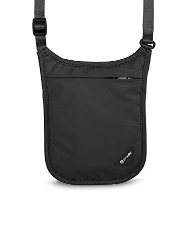 Pacsafe Coversafe V Pochette tour de cou, 18 cm, Noir (Black)