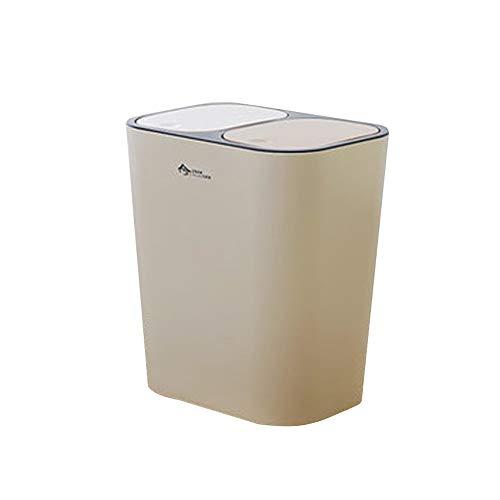 Creatieve vuilnisemmer, kan het deksel voor het opbergen binnenin de vuilnisemmer drukken en de groene vuilnisbak voor de keuken van de school woonkamer commercieel voor de badkamer.