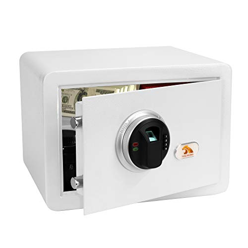 TIGERKING Security Safe Box,Biometric Fingerprint Safe,for Home,Jewelry and Cash,Suitable for Use in Homes,Hotels,Dormitories and Offices