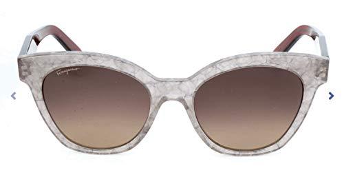 Ferragamo SF877S Cateye Sonnenbrille 54, Mehrfarbig