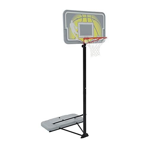 Lifetime 90992 Full-Size Height Adjustable Portable Basketball Hoop, 7.5 to 10 Foot Telescoping Adjustment, 44-Inch Impact Backboard
