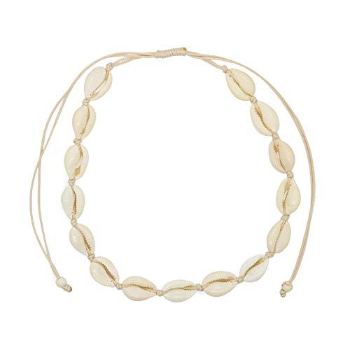 Good.Designs ® Damen Muschel Choker (Natur) Shell Halskette mit echten Muscheln Muschelarmband Muschelschmuck echtemuscheln naturmuscheln