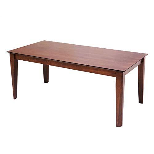 Mendler Esstisch HWC-G64, Esszimmertisch Küchentisch Holztisch Tisch, rechteckig Massiv-Holz - 180x90cm