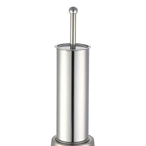 ETJar Escobilla para inodoro Escobilla para inodoro con soporte Mango de acero inoxidable para servicio pesado extra largo Juego de limpiadores para fregadora de tazón Productos para la limpieza del