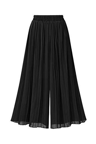 Pantalones De Pierna Ancha Plisados De Gasa para Mujer Primavera Otoño Casual Dailywear