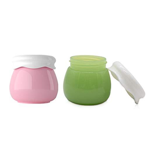 Shulishishop Botes Viaje Kit Viaje Tamaño de Viaje de artículos de tocador Botella de emulsión de loción portátil Botellas de plástico Maquillaje ollas 2 pcs