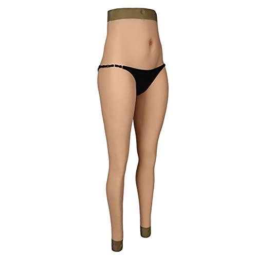 AJIU Crossdresser Bragas de Silicona Pantalones Nalgas Artificiales Noveno pantalón Mejorador de Pantalones con Vagina Falsa para transgénero Ladyboy Cosplay,Color 3,1Small
