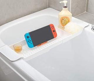 ICEY バスタブトレー バスタブラック 浴室用ラック バステーブル バスラック 伸縮式 ズレ防止 大容量 水切り お風呂用品