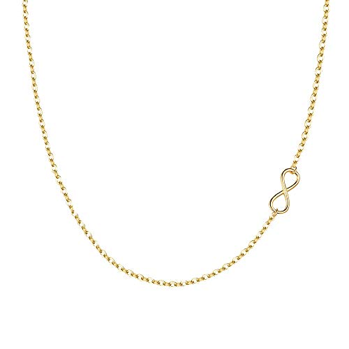 EVER FAITH Wedding Accessory 925 Sterling Silver Elegant 8 Shaped Infinity Pendant Choker Necklace Gold-Tone