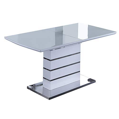 Adec - Spring, Mesa Extensible de Comedor o Cocina, Mesa de Cristal, Medidas: 150-190 cm (Largo) x 80 cm (Ancho) x 76 cm (Alto)