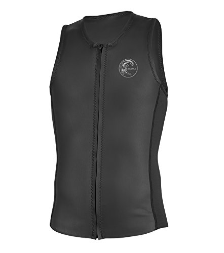 O'Neill Men's O'riginal 2mm Full Zip Vest, Black, X-Large