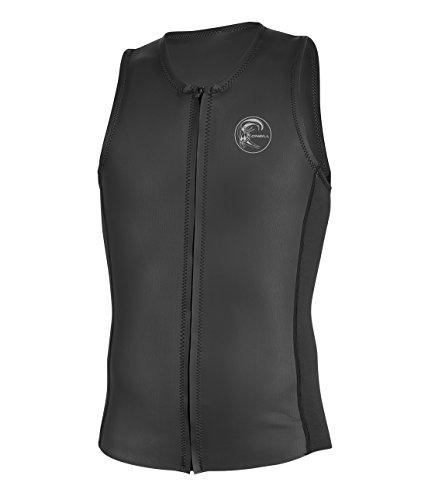 O'Neill Men's O'riginal 2mm Full Zip Vest, Black, Large