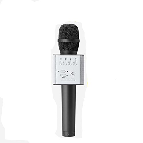 SZGP Q9 Portable Wireless Karaoke Microphone Handheld Condenser Microphone with Speaker for for iPhone/iPad/iPod/ Samsung Sony HTC Lumia Smartphone (black)