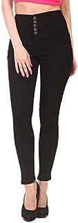jannon Women's Denim Slim Fit High Waist Jeans