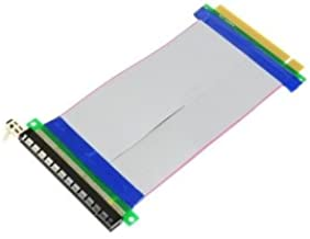 Cablecc PCI-E Express 16X to 16x Male to Female Riser Extender Card Ribbon Cable 20cm