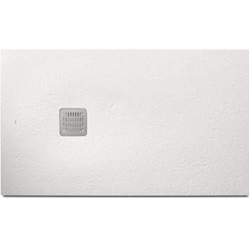 Plato de ducha de la serie Roca Terran Basic, con acabado texturizado, 140 x 70 x 2 centímetros, color blanco (Referencia: AP1015782BC0110B)