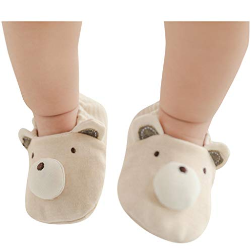 Baby Socken, Neugeborene Jungen Jungen Mädchen Cartoon Tiere Boden Socken Anti-Rutsch Baby Tritt Socken, Baby Kleidung Weiß Klein