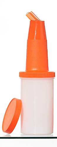 Garnet 6000-A Speed Bottle da 1 lt – Contenitore di succhi e sciroppi – 1 Pezzo – Il Barattolo è Dotato di Tappo di Chiusura-Made in Italy, Plastica, Arancione