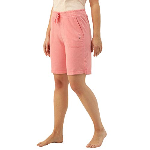 Enamor Essentials E080 Women's Relaxed Fit Cotton Terry Bermuda Shorts...