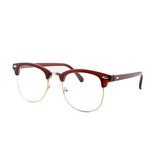 Gafas de sol deportivas, Uv400 gafas de sol hombres mujeres de lujo vintage semi-Rimless moda espejo sombras rayos sol gafas