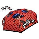 Chanos Chanos Miraculous Lady Bug 50 cm. Manual Polyester Taslon W/Display Folding Umbrella, cm, Red Regenschirm, Rot (Red)