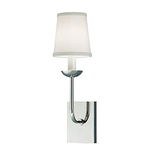 Norwell Lighting 8141-PN-WS Circa - One Light Wall Sconce, Glass Options: White Shade, Choose Finish: PN: Polished Nickel
