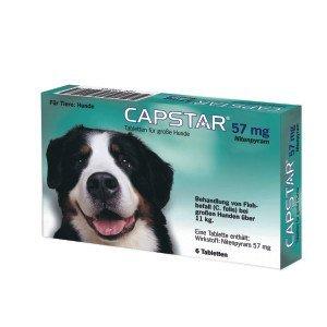 CAPSTAR 57 mg Tabletten f.große Hunde 6 St