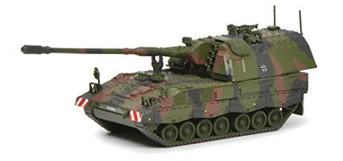 Schuco 452642000 Panzerhaubitze 2000, Military, Modellfahrzeug, 1:87, Flecktarn