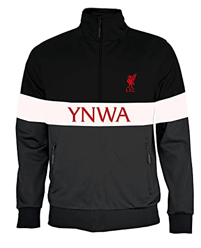 PRENDAS DEPORTIVAS ROGER'S, S.L. Sudadera oficial del Liverpool You'll Never Walk Alone deportiva ajustada Reds YNWA LFC Negro - Gris - Blanco L