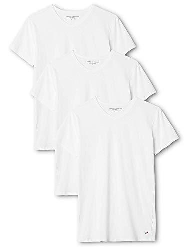 Tommy Hilfiger Herren Vn Tee ss 3 Pack Premium Essentials Unterhemd, Weiß (White 100), M (3er Pack)
