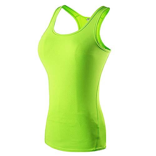 MUZIM Neue Yoga Tops Frauen Sexy Gym Sportswear Weste Fitness Enge Frauenkleidung Ärmelloses Laufhemd Quick Dry White Yoga Tank Top-Grün_S.