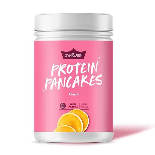 GymQueen Protein-Pancake Backmischung Neutral 500g, Proteinreicher Pancake Mix, Pfannkuchen Pulver für deine Extraportion Eiweiss, schnelle und einfache Zubereitung, zuckerreduziert