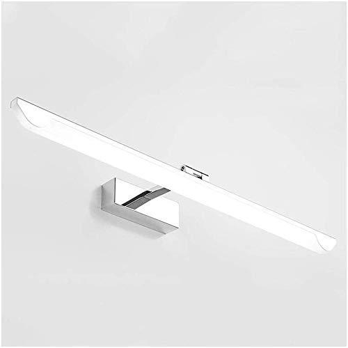 WEM Luces de Espejo Decorativas para el Hogar, Baño Led a Prueba de Humedad Espejo de Luz para Gabinete Lámpara de Maquillaje Simple Lámpara de Pared Basculante,53Cm Positivo de Luz Blanca