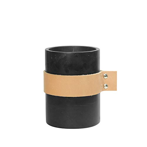 Tak Design Marmer Vaas, Zwart, 10 cm X 12 cm