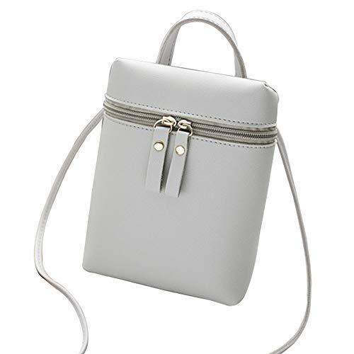 Y-hm fashion design Mobile phone bag lady bag new tide occasional shoulder bag low bag female bucket bag Lightweight and durable (Color : Gray, Size : 18 * 13 * 5CM)
