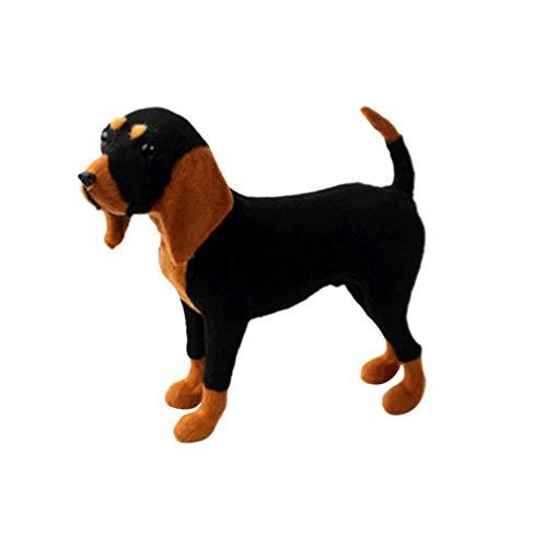 VOSAREA Kuscheltier Hund Plüsch Beagle Hundespielzeug Riese Beagle Welpe Lebensechte Plüschtier Hund für Wohnkultur Geschenk