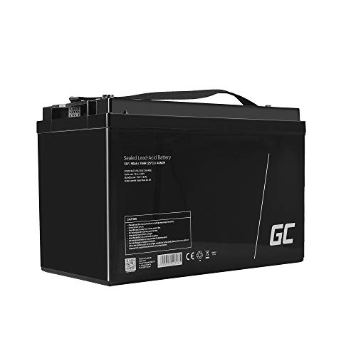 Green Cell® Recambio de Batería AGM (12V 90Ah VRLA B5 M6 Bolt) Pila sellada de Plomo Acido Recargable Sealed Lead Acid VRLA para alarmas de hogar, Juguetes electricos, Sistemas UPS USV, Solarpanel