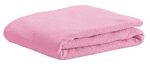 Odenwälder Frottee-Spannbetttuch soft pink für Kinderbetten 70 x 140 cm