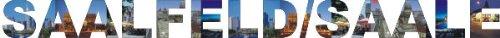 PEMA INDIGOS UG - Wandtattoo Wandsticker Wandaufkleber - Aufkleber farbige Wandschrift Städtename Städtename Saalfeld - Saale mit Sehenswürdigkeiten 180 x 14 cm Länge