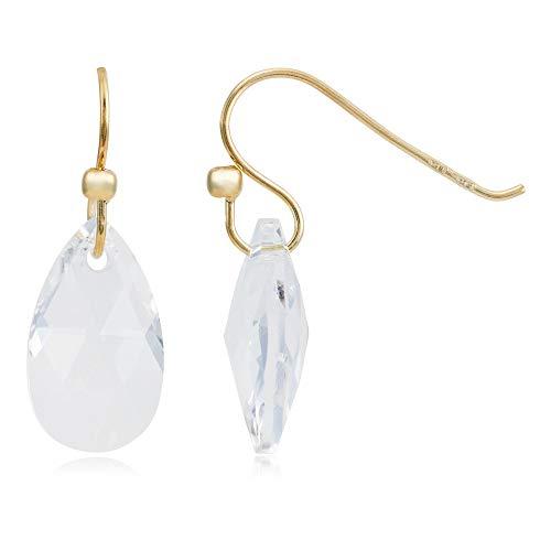 Córdoba Jewels | Pendientes en plata de ley 925 bañada en oro con cristales by Swarovski con diseño Gota Swarovski Gold