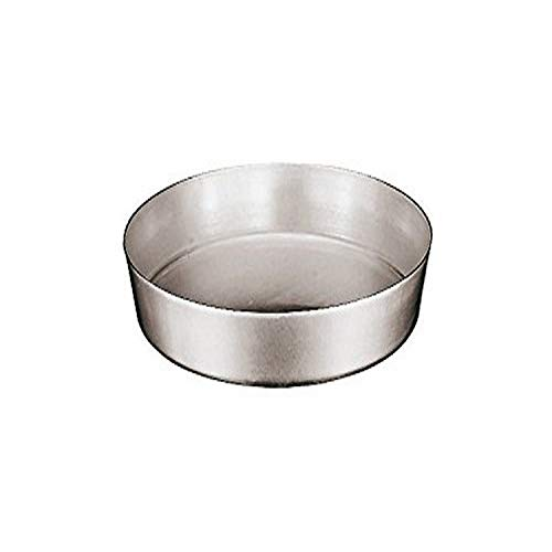 Paderno World Cuisine Aluminum Plain Cake Pan, Small, Gray