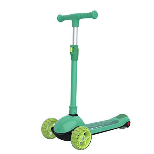 WNN-URG Una Scooter de un pie para niños - Truco de Scooter de Truco Scooters intermedio y Principiante Estilo Libre Trucos de Estilo Libre para 8 años de Edad URG (Color : Green)