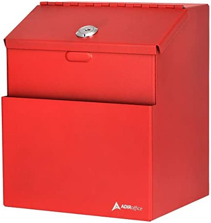 Adir Wall Mountable Steel Suggestion Box with Lock Donation Box Collection Box Ballot Box Key product image