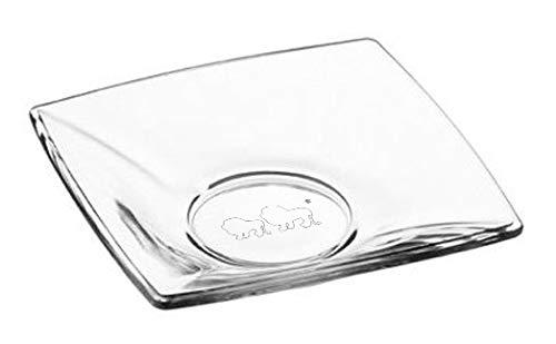 Topkapi TK-800 Kare - eckige Glas-Untersetzer für Türkische Teegläser, 6 Stück
