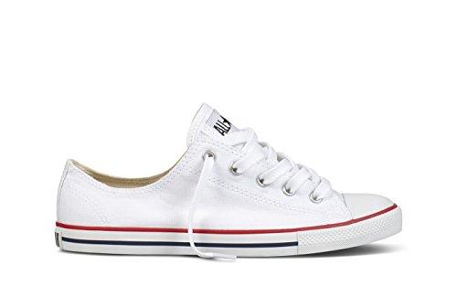 Converse CT Dainty Ox C537204 Damen Sneaker, Weiß (Blanc/Rouge), 38 EU