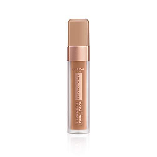 L'Oréal Paris Make-up designer Les Chocolats Labial Líquido Mate, Tono Marrón Nude 860 Ginger Bomb
