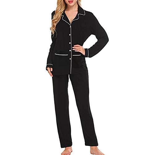 Susenstone Ensemble Pyjama Femme Hiver Chaud Pas Cher Lingerie De Nuit Sexy Chic Longue Robe De Chambre Doux VêTements De Nuit